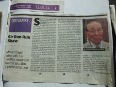 The Obituary of Run Run Shaw