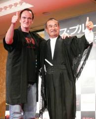 Quentin Tarantino & Sonny-Chiba promoting KILL BILL
