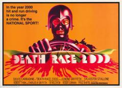 DEATH RACE 2000 (1975) Orange background, landscape version