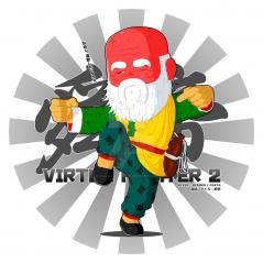Shun Di - B&W BG (Virtua Fighter 2)
